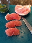 Peeled grapefruit sections